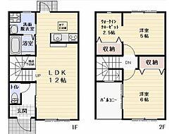 長野県佐久市中込の賃貸アパートの間取り