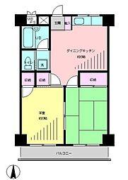 東京都練馬区向山4丁目の賃貸マンションの間取り