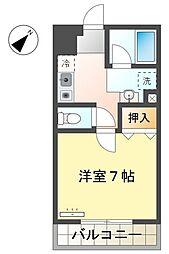 名鉄豊田線 上豊田駅 徒歩13分の賃貸マンション 1階1Kの間取り