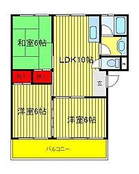 第3関東マンション[4階]の間取り
