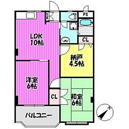 マルヨマンションIII[2階]の間取り