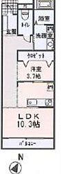 シャンプワール新鎌ヶ谷C棟[2階]の間取り