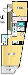 JR京浜東北・根岸線 与野駅 徒歩6分の賃貸マンション 2階1LDKの間取り
