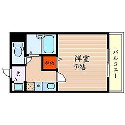 滋賀県彦根市野瀬町の賃貸マンションの間取り