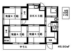 [一戸建] 福岡県福岡市東区若宮2丁目 の賃貸【/】の間取り