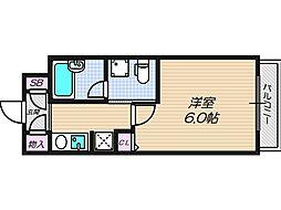 大阪府大阪市西成区天下茶屋東2丁目の賃貸アパートの間取り