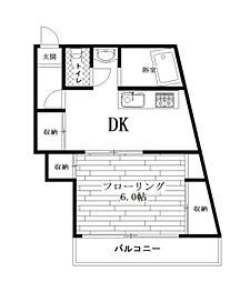 東京都杉並区阿佐谷北4丁目の賃貸マンションの間取り