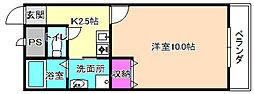 アンプルールモンターニュ2[2階]の間取り