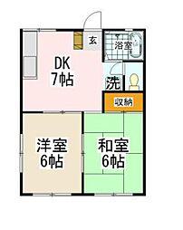 神奈川県横浜市磯子区洋光台3丁目の賃貸アパートの間取り