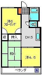 ニュー小机マンション[202号室]の間取り