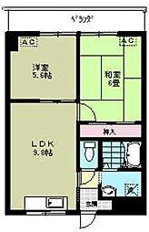 リブステージ横浜[10階]の間取り