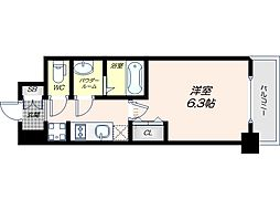 Osaka Metro谷町線 四天王寺前夕陽ヶ丘駅 徒歩9分の賃貸マンション 3階1Kの間取り