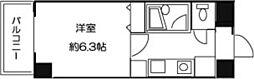 ドミール羽田天空橋[406号室]の間取り