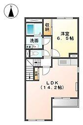 愛知県田原市赤羽根町出口の賃貸アパートの間取り