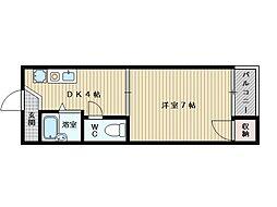 アピア桑田[2階]の間取り
