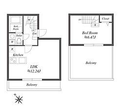 東京メトロ南北線 白金高輪駅 徒歩8分の賃貸マンション 4階1LDKの間取り