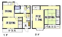 [タウンハウス] 岡山県倉敷市玉島乙島 の賃貸【/】の間取り