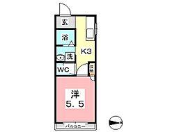 プチパール[2階]の間取り
