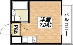 シャトー平野[4階]の間取り