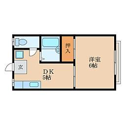 ARK五個荘[2階]の間取り