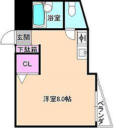 シャンテー津田[3階]の間取り