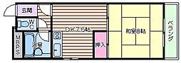 [一戸建] 大阪府大阪市東住吉区桑津5 の賃貸【/】の間取り