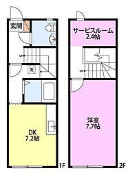 メゾネットキューブ[2階]の間取り
