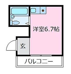 スリーフレンド天美[4階]の間取り