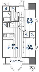 クリスタルリゾートタワー[9階]の間取り