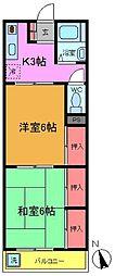 コーポ峰清[2階]の間取り