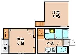 クレオ箱崎宮前壱番館[1階]の間取り