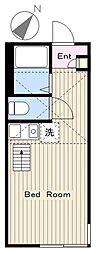 神奈川県大和市南林間2丁目の賃貸アパートの間取り