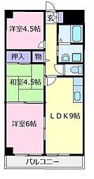 ヤマダマンション[3階]の間取り