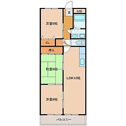 ラ・コートYT[2階]の間取り
