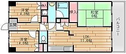 deuxローズレイアA棟[4階]の間取り