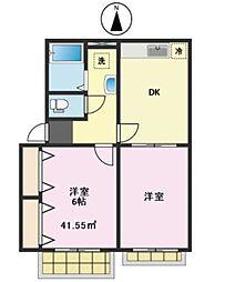 みどりハウス[2階]の間取り