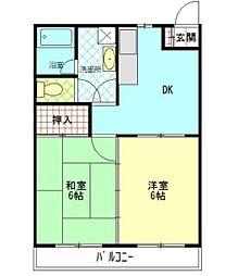 新成マンション[2階]の間取り