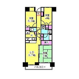 武蔵小杉西パーク・ホームズ[4階]の間取り