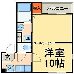 JR総武線 千葉駅 徒歩16分の賃貸アパート 1階1Kの間取り