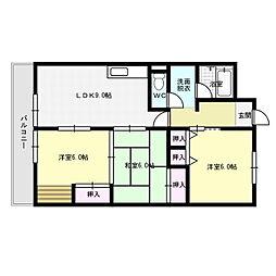 ユアーズマンション21[2階]の間取り