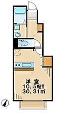 東京都日野市南平7の賃貸アパートの間取り