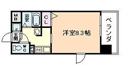 大阪府大阪市福島区福島3丁目の賃貸マンションの間取り
