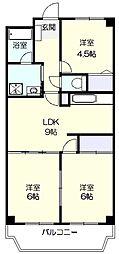 モンベルティ[2階]の間取り