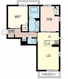 シャーメゾンSUNBAY 3階1SLDKの間取り