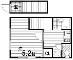 マウンテンハウスⅠ[2階]の間取り