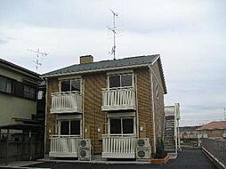 茨城県古河市茶屋新田の賃貸アパートの外観