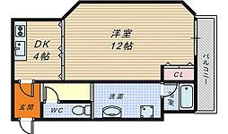 ヴェルドミール堺[2階]の間取り
