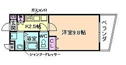 カスタリア新梅田[5階]の間取り