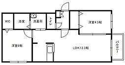 LIBERTY COURT[2階]の間取り