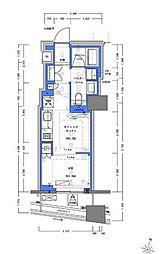JR山手線 神田駅 徒歩4分の賃貸マンション 5階1DKの間取り